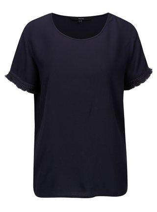 Tmavě modré tričko s třásněmi VERO MODA Mynte