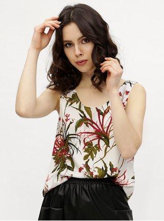 Top alb cu print floral VERO MODA Simply