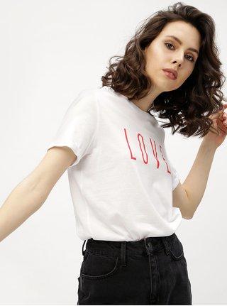 Bílé tričko s potiskem VERO MODA Devrim
