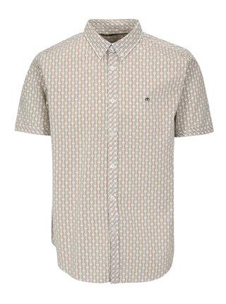 Krémová vzorovaná košile s krátkým rukávem Merc