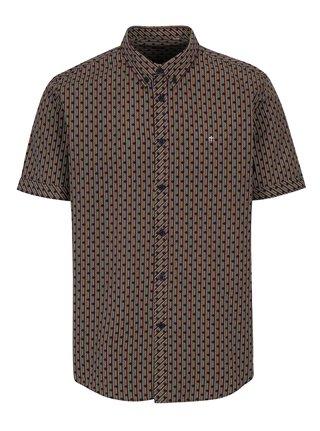 Žlto-červená vzorovaná košeľa  s krátkym rukávom Merc