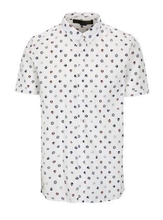 Biela vzorovaná košeľa Merc