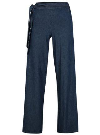 Tmavě modré volné kalhoty s vysokým pasem SH Itaberaba