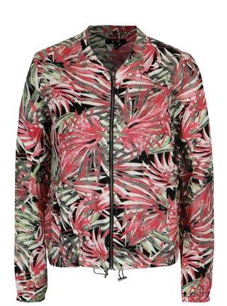 Jacheta bomber verde&roz din in cu print - Yest