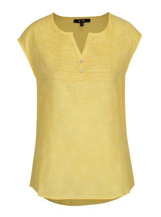 Žltá blúzka s výšivkou Yest