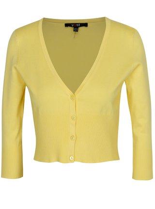 Žlutý krátký kardigan Yest