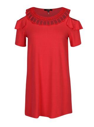 Bluza rosie cold shoulder cu detalii impletite Yest