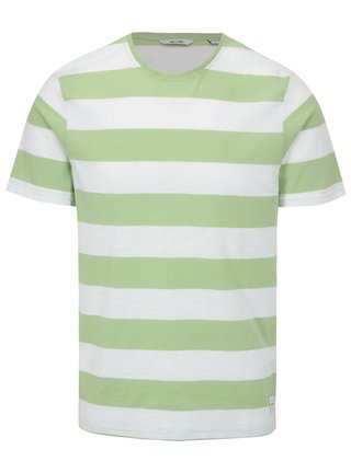 Tricou asimetric verde&alb in dungi ONLY & SONS Dontell