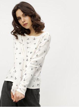 Bílý svetr s potiskem kotev Haily´s Nellie