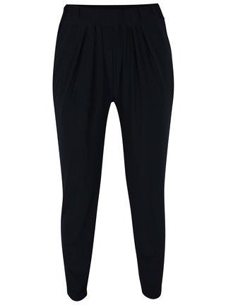 Pantaloni bleumarin cu drapaje discrete - Yest