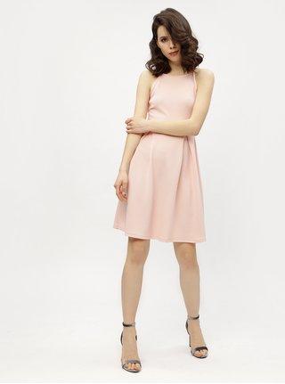 Rochie halter roz pal cu model discret  Haily´s Lolly