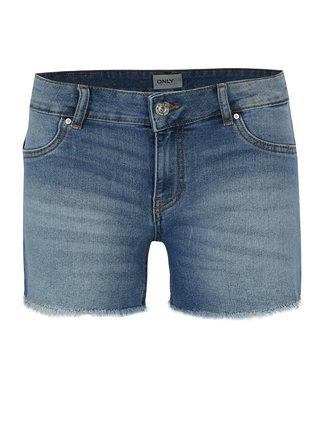 Modré džínové kraťasy s nízkým pasem ONLY Dylan