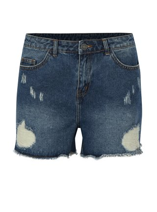 Pantaloni scurti albastri din denim cu aspect uzat - VILA Makkas