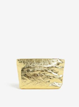 Kožená kozmetická taštička v zlatej farbe Vagabond Marbella