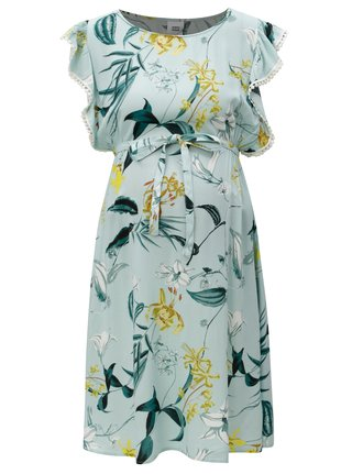 Světle modré květované těhotenské šaty Mama.licious Lemonade