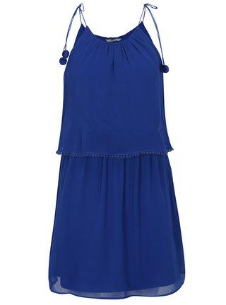 Rochie albastra cu pom pom  ONLY Zoe