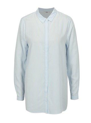 Bielo-modrá pruhovaná oversize košeľa ONLY Glory