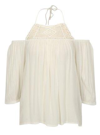 Biela oversize blúzka s odhalenými ramenami ONLY Karmen