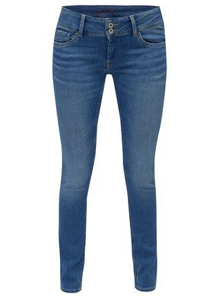 67872d48134 Modré dámské slim fit džíny s nízkým pasem Pepe Jeans Vera