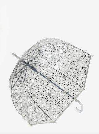 Transparentní puntíkovaný vystřelovací deštník Esprit Lether dance