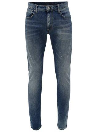 Blugi albastri cu aspect prespalat pentru barbati -  Pepe Jeans Stanley