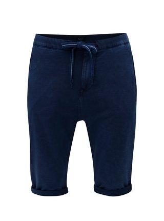 Tmavomodré pánske teplákové regular kraťasy Pepe Jeans Miles short