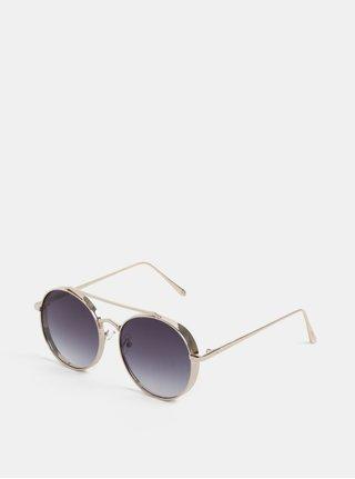 Okrúhle slnečné okuliare v zlatej farbe Nalí