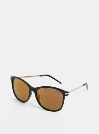 Černé sluneční brýle s nožičkami ve zlaté barvě Nalí