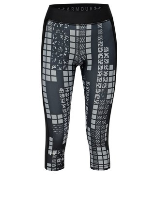 Leggings de dama 3/4 sport negri cu model Under Armour