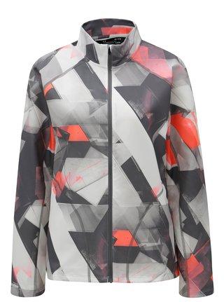 Světle šedá vzorovaná lehká voděodolná dámská bunda Under Armour