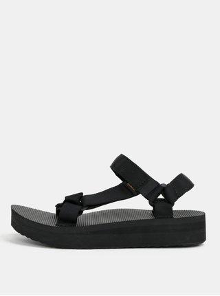 Čierne dámske sandále na platforme Teva