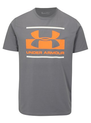 Tricou barbatesc functional gri cu print Under Armour