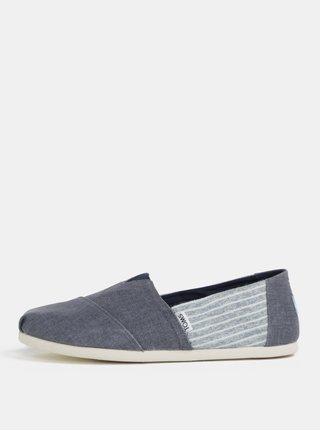Pantofi slip on albastru din denim pentru barbati - TOMS