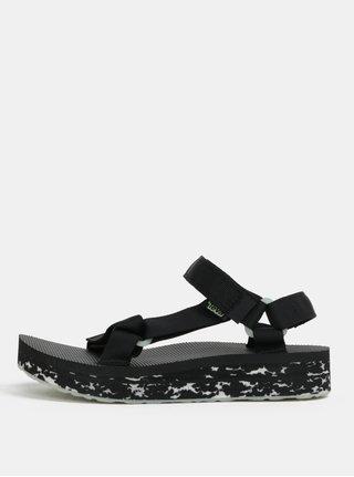 Černé dámské vzorované sandály na platformě Teva