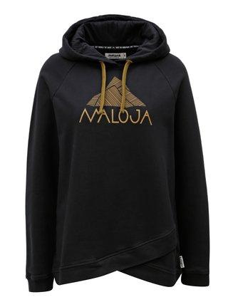 Hanorac negru de dama cu gluga Maloja