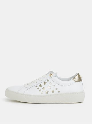 Biele dámske kožené tenisky s hviezdami Tommy Hilfiger