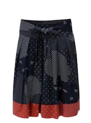 Modrá vzorovaná sukňa Maloja
