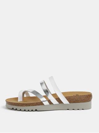 Dámské zdravotní pantofle ve stříbrné barvě Scholl Alma