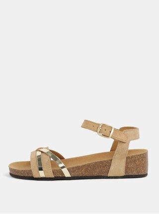 Hnedé dámske semišové zdravotné sandále Scholl Kelly
