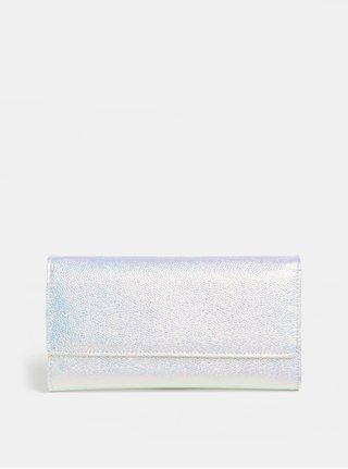 Metalická peněženka ve stříbrné barvě s růžovými odlesky Anna Smith
