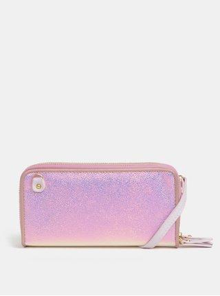 Ružová metalická veľká peňaženka Anna Smith