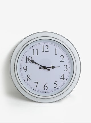 Bílé nástěnné hodiny SIFCON