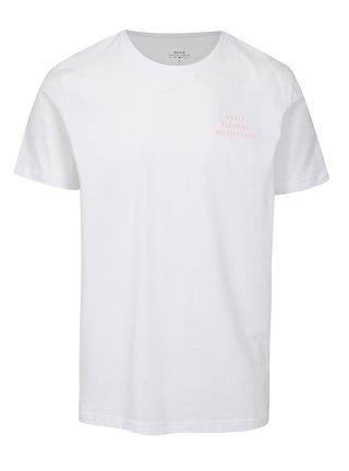 Tricou alb cu print - Makia Helsingforst