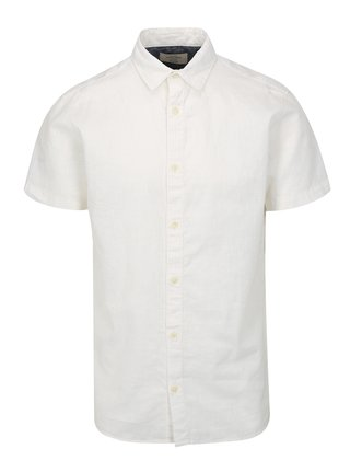 Bílá lněná košile Jack & Jones New