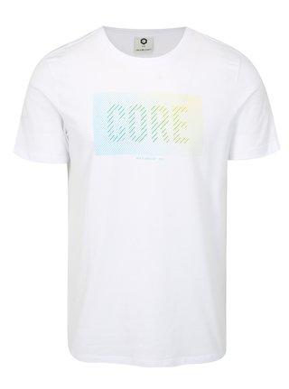 Tricou alb cu imprimeu Jack & Jones Flyn
