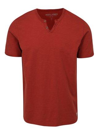 Cihlové tričko Jack & Jones Premium Benjamin