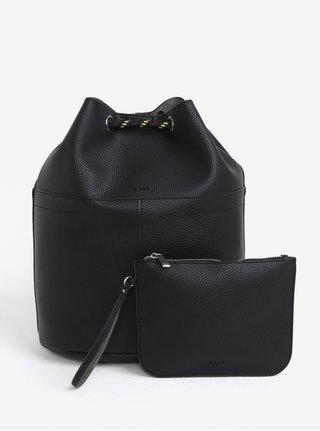 Geanta-sac neagra din imitatie de piele 2 in 1 Nalí