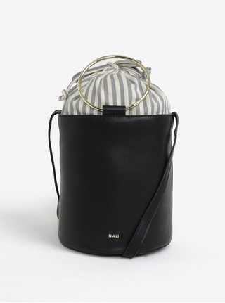 Černá crossbody kabelka s detaily ve zlaté barvě Nalí
