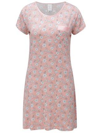 Camasa de noapte roz cu model M&Co