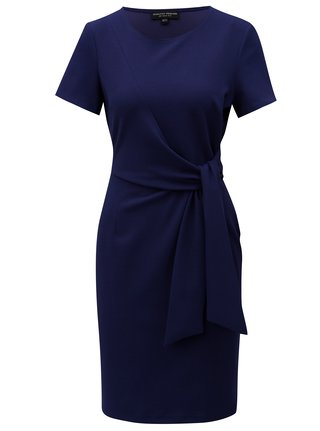 Rochie albastru inchis cu funda Dorothy Perkins